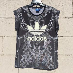 Adidas Originals X Farm Paisley Print T-Shirt